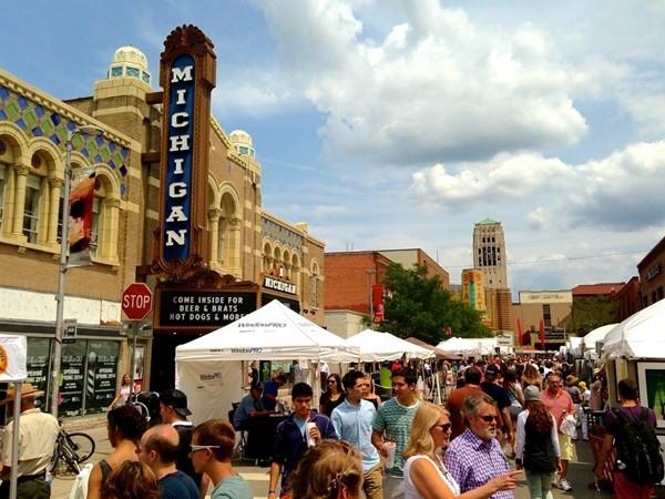 The Ann Arbor Street Art Fair, 2014