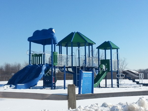 One of the playgrounds at Bicentennial Park, Grand Blanc MI