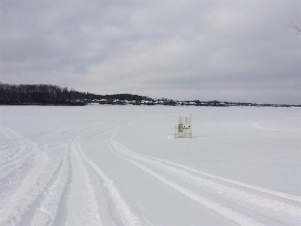 Snowmobiling on Silver Lake