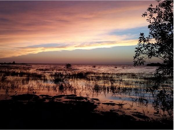 Wild colors over Lake Michigan