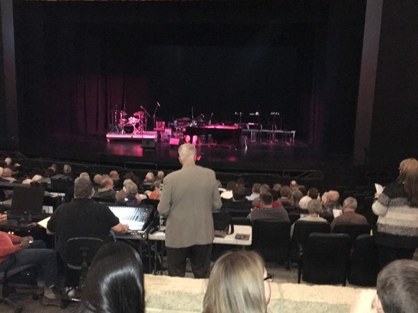 Toe-tapping Jazz performance at the Van Singel Fine Arts Center. Caring volunteers were everywhere.