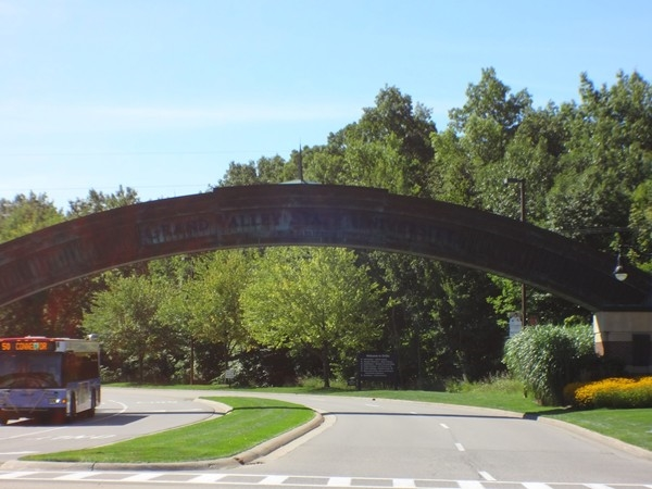 Entrance to Grand Valley State University, Allendale Campus