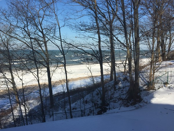 Just north of South Haven's pier is a great winter scene