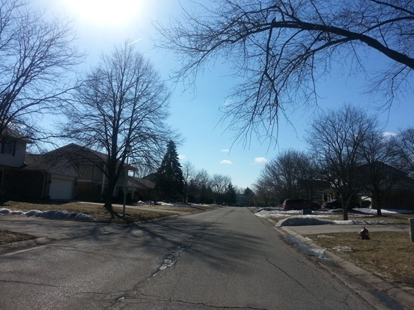 Streetview for Riverbend West subdivision, Grand Blanc Township MI