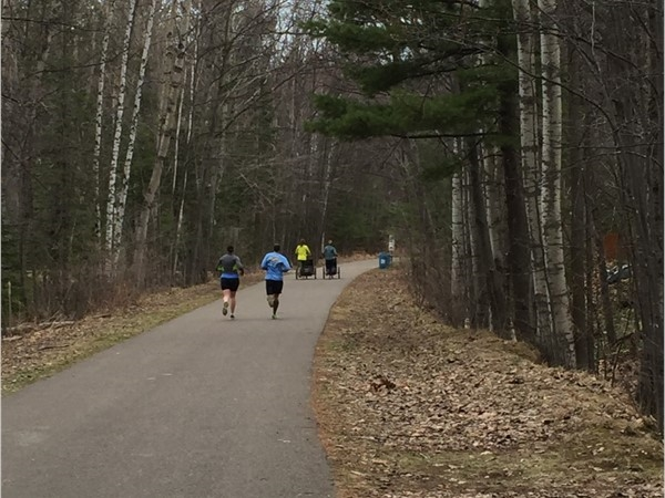 Marquette is the place to be for bikers and runners alike with paved bike trails throughout town
