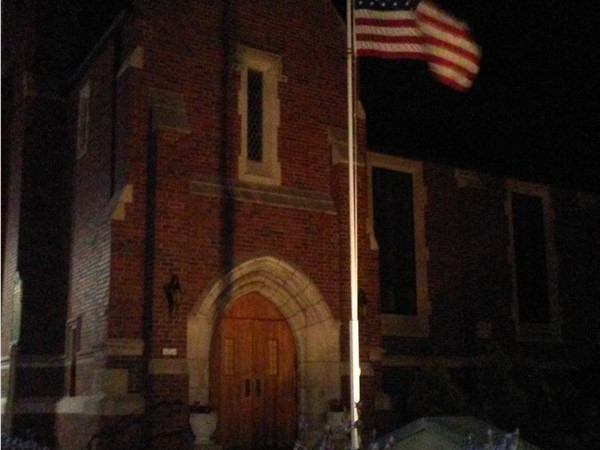 Church in downtown Fenton