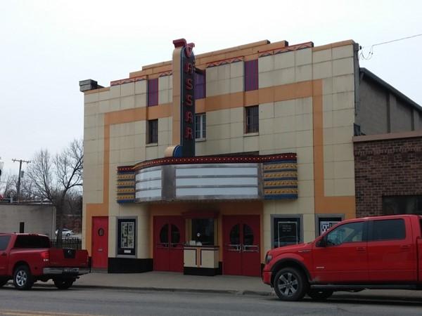 The Vassar Theater in downtown Vassar