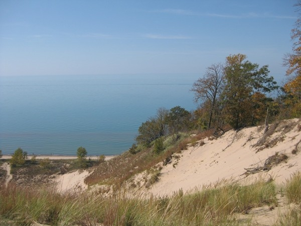 Another sand dune overlooking beautiful Lake Michigan