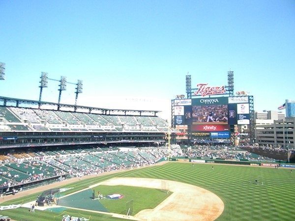 Summmer days and nights at Comerica Park, Go Detroit Tigers