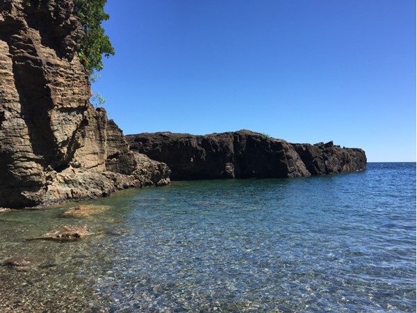Black rocks at Presque Isle Park