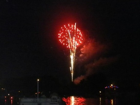 Nothing is better than fireworks on a boat on a lake in Fenton!
