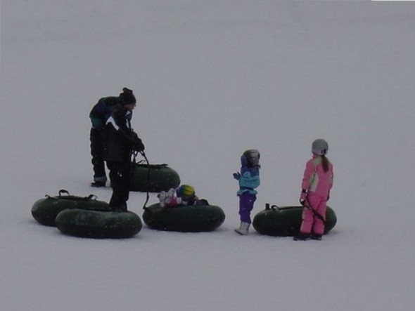 Boyne is a great place to spend time with your family. Tubing is a family favorite.