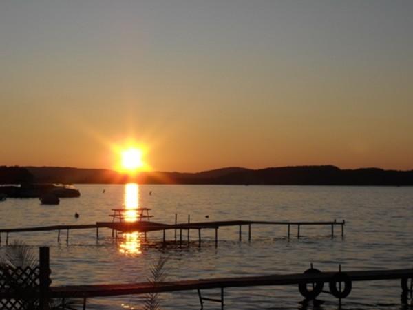 Lake Leelanau at sunset