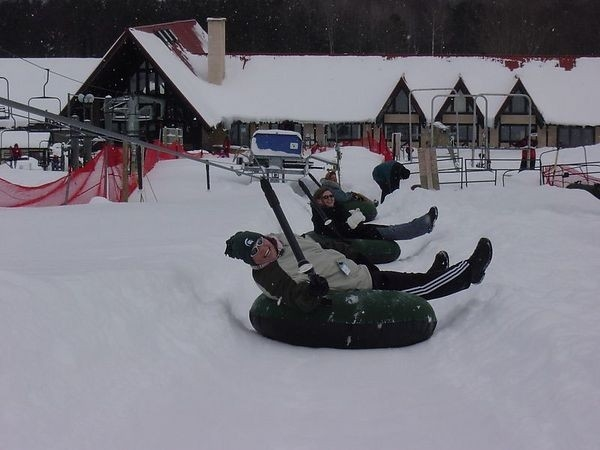 Tubing on Boyne Mountain is a alternative to skiing and snow boarding