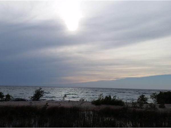 Cloudy yet beautiful Lake Michigan