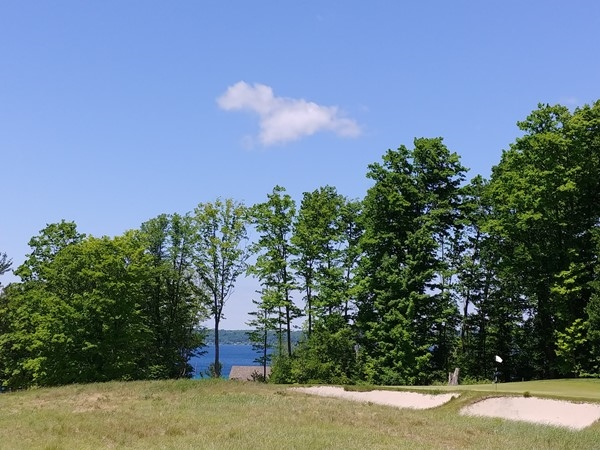 Views of East Bay and Old Mission Peninsula from Lochenheath Golf Course