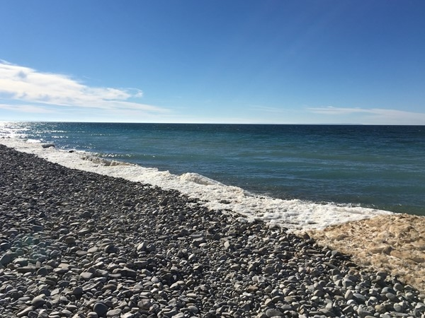Hunt for Petoskey stones, watch for freighters, enjoy the sunshine at Peterson Park