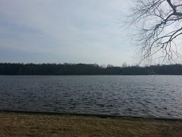 Stunning view of Faussett Lake in Hartland