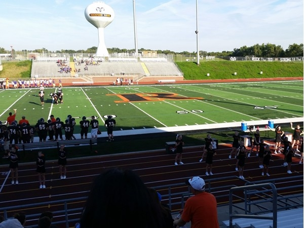 Rockford High School football and cheer