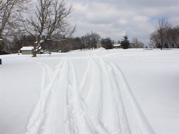 Snowmobiling In Silver Lake Park