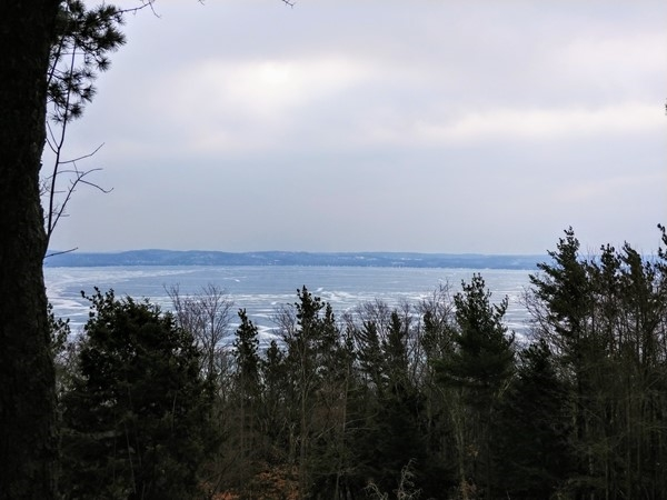 Head to Alligator Hill for a heart-pumping hike and awesome views of Glen Lake