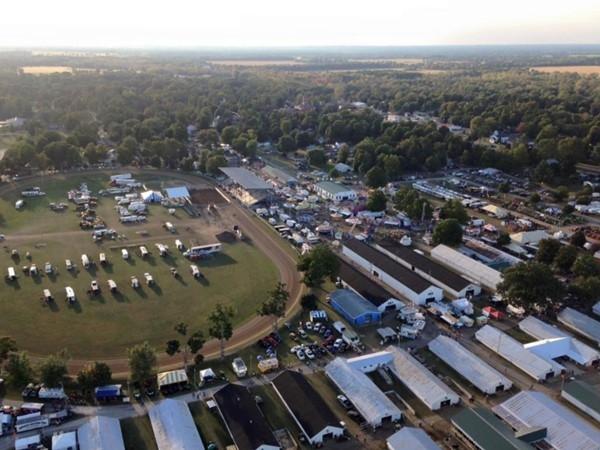 RE/MAX balloon flight over the St. Joseph County Fairgrounds, September 2015