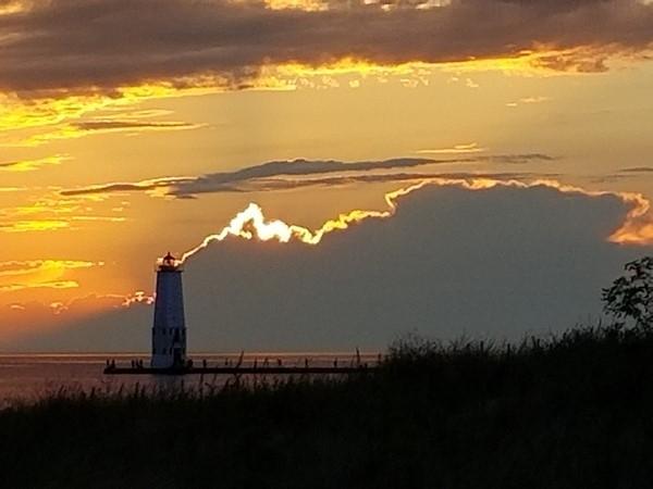 Sunset at Elberta Beach