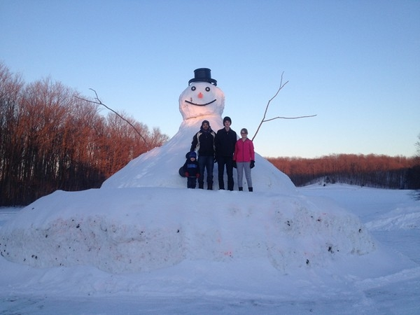 This snowman is over 20 feet tall! Just an example of how much snow Petoskey has received!
