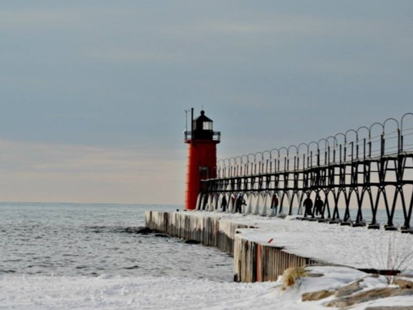 Winters in Michigan can be beautiful!  Visit beaches of West Michigan year round