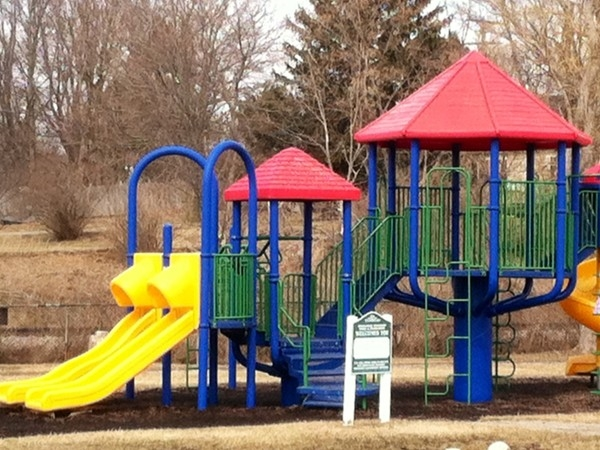 The playground at Mill Pond Park and Hart Community Center