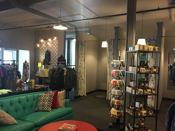 Relish is a charming, cozy place to shop for stylish clothes, gifts, and thoughtful cards
