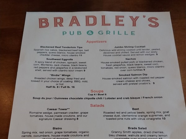 Head to Bradley's at Interlochen Golf Club for a delicious meal and a beautiful golf course view