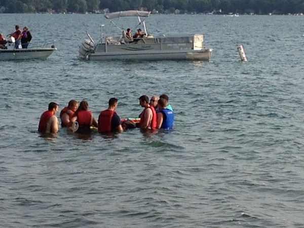 Ross Township Park on Gull Lake hosts local fire department water rescue training