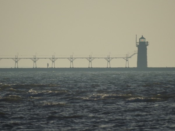 Early morning solitude as seen on our South Pier Lighthouse