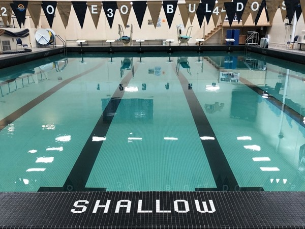 Bulldog Pool is ready for swim practice and meets