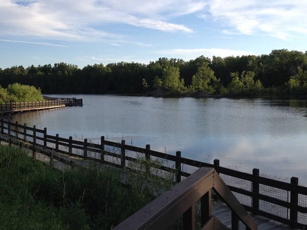 Yes! This is Lansing! Enjoy a quiet morning stroll along the lake at Hawk Island Park