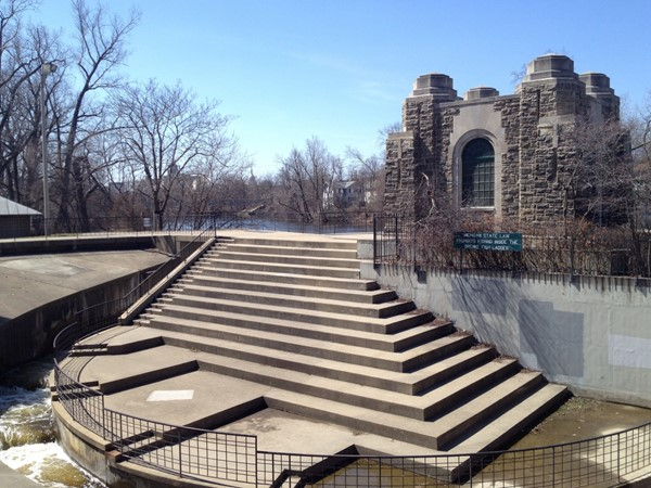 Brenke Fish Ladder is the heart of Old Town Lansing. One of many attractions of the River Trail