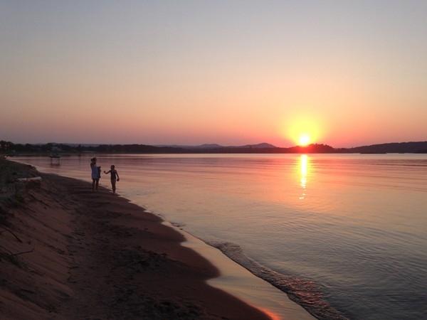 Sunset at Presque Isle Pavilion