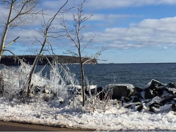 A morning run along Lake Superior
