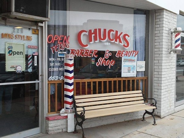 Chucks Barber & Beauty Shop. In Davison and in need of a haircut?