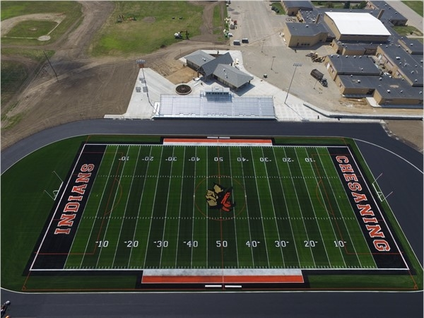 Newly renovated Orra C. Morningstar Stadium for Chesaning Union Schools