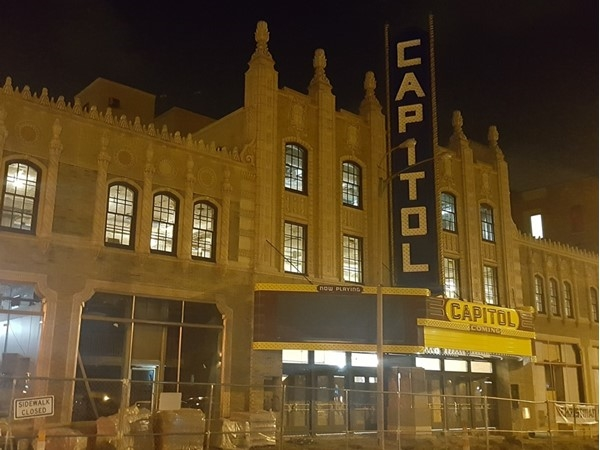 Construction continues on the beautiful Capitol Theatre in Downtown Flint