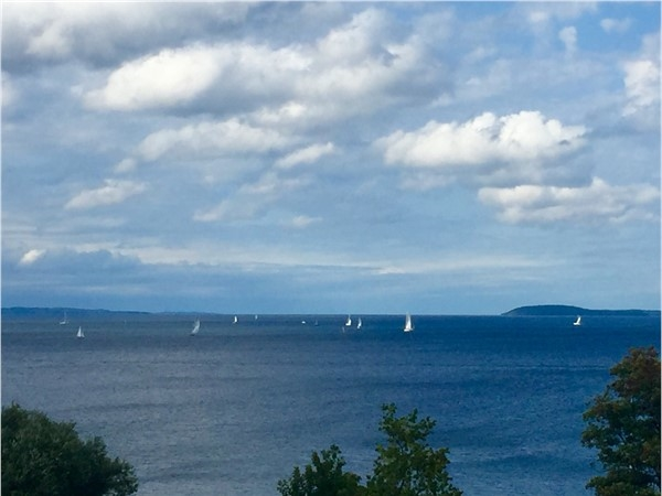 Love the roof top view of the West Bay Wednesday night regatta from Hotel Indigo in Traverse City