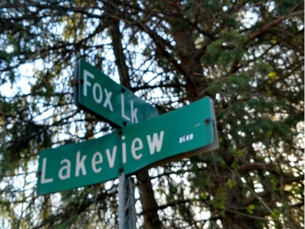 Great location on Big Fish Lake. The street ends at a path to the state park