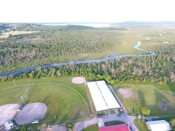 Aerial view of Cedar River