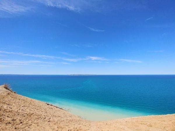 So many shades of blue!  Pyramid Point, Sleeping Bear Dunes National Lakeshore
