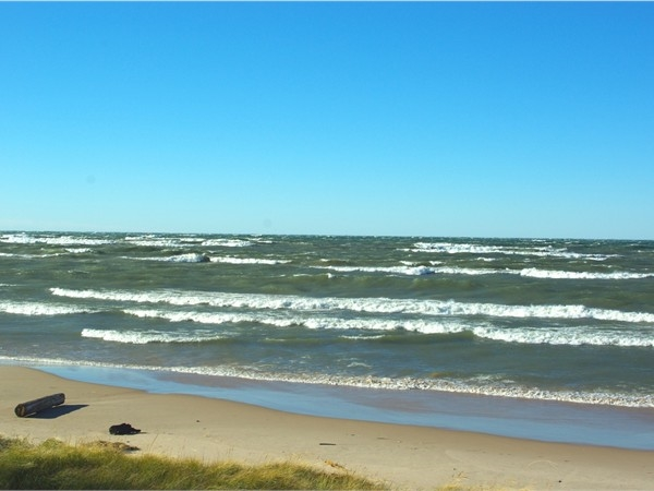 A westerly wind off Lake Michigan