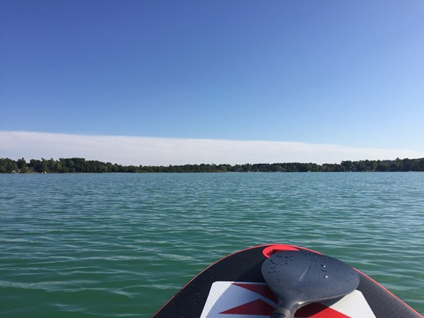 Sun, Cedar Lake, a board and paddle...everything needed for a great afternoon workout