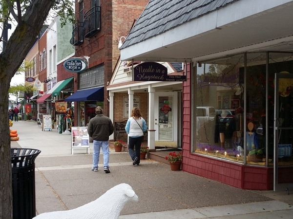 Downtown South Haven is a great place to walk around and shop