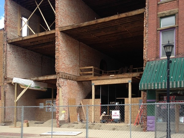 Downtown Sturgis building getting a huge facelift! Wings, Etc. coming soon